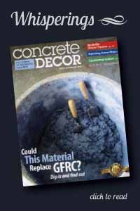 Story of Orange Crete brushes in Concrete Decor Magazine