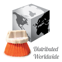 worldwide distribution of orange-crete brushes